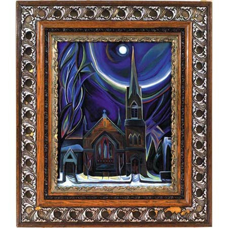 Sixth Church          Oil/Canvas, image 20x16in, in antique frame