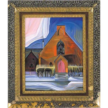 Eighth Church          Oil/Canvas, image 20x16in, in antique frame