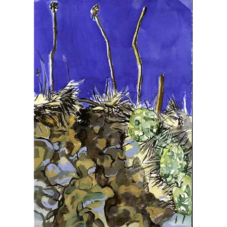 The Earth Falls Away           Watercolor, 12x9in, 2003, Private Collection