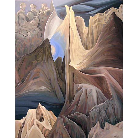 BADLANDS:MONUMENTS           Oil/Canvas, 30x40in, 2003