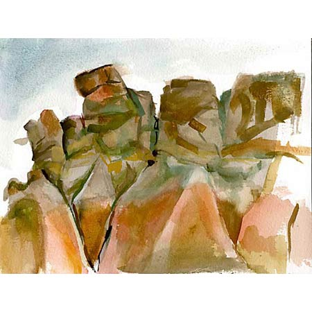 Badlands Study           Watercolor, 9x12in, 2003