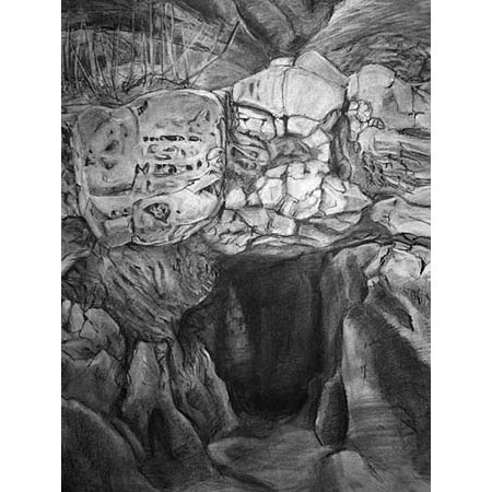 Badlands Study           Charcoal, 24x17in, 2003