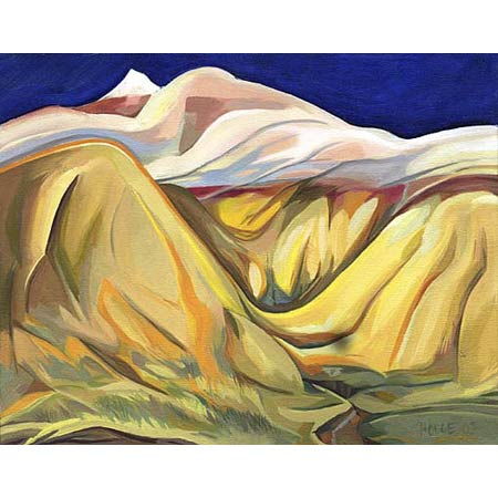 The Yellow Mounds           Oil/Canvas, 11x14in, 2003, Private Collection