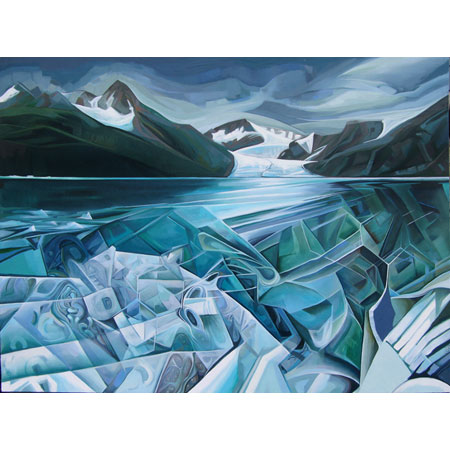 Ice   |   oil/canvas, 30x40in, 2014 (sold)