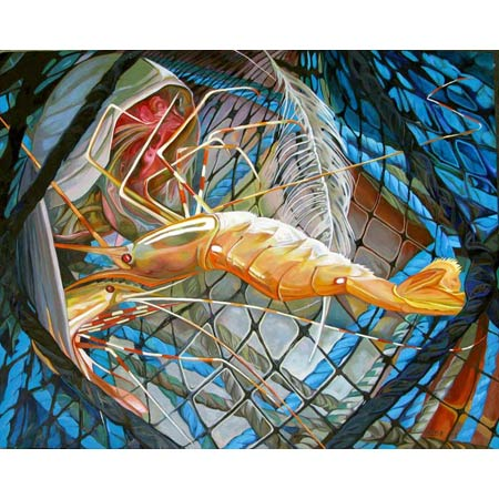 Shrimp Net   |   oil/canvas, 24x30in, 2013