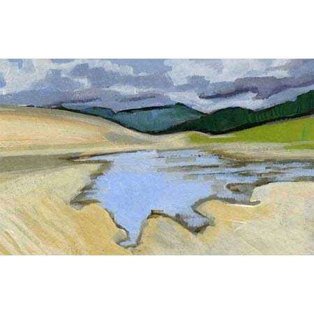 Medano Creek Study       |       Oil Pastel, 5x7in, 2009